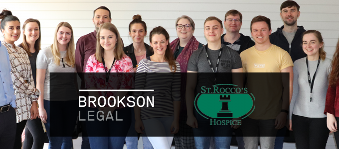 Brookson legal fundraise for local hospice, St Rocco's